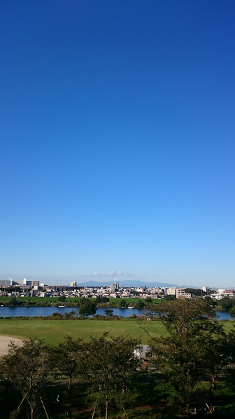 川と富士山VIEW