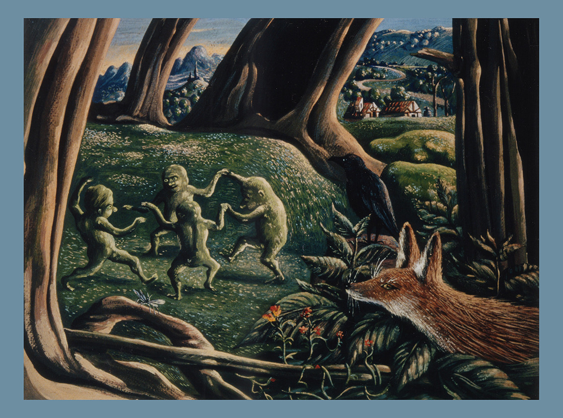 Fuchs und tanzende Waldkobolde