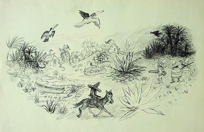 Mexikaner, Jaguar und Klapperschlange