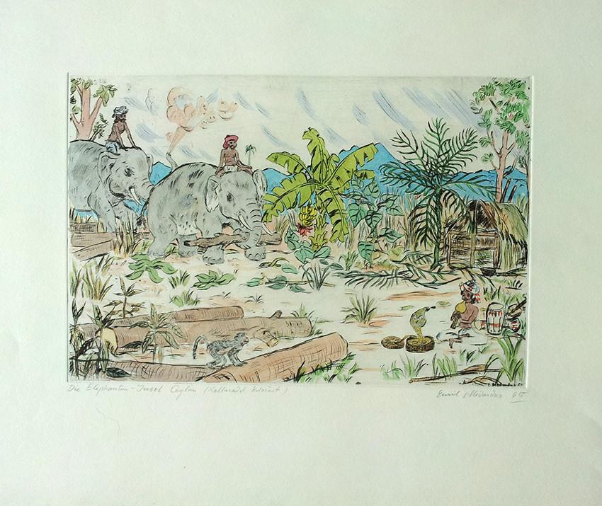 Die Elefanteninsel Ceylon