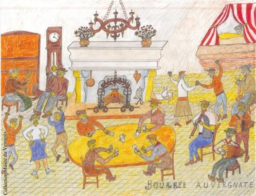 Bourrée auvergnate - dessinde René Delrieu