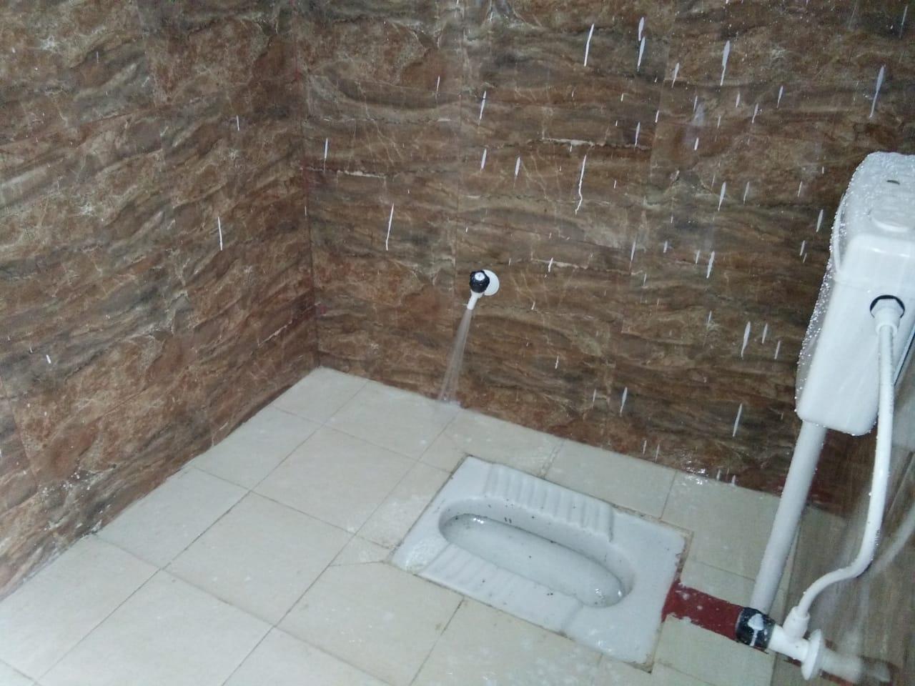 Les toilettes à l'indienne.