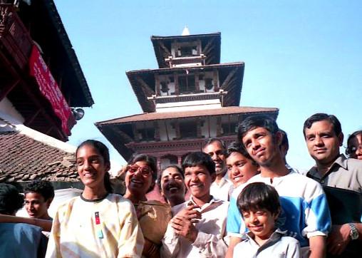 diese Nepali waren stolz auf ihr UNESCO-Weltkultur-Erbe