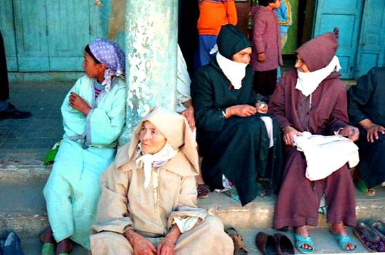 in der Medina trifft man auf interessante Menschen