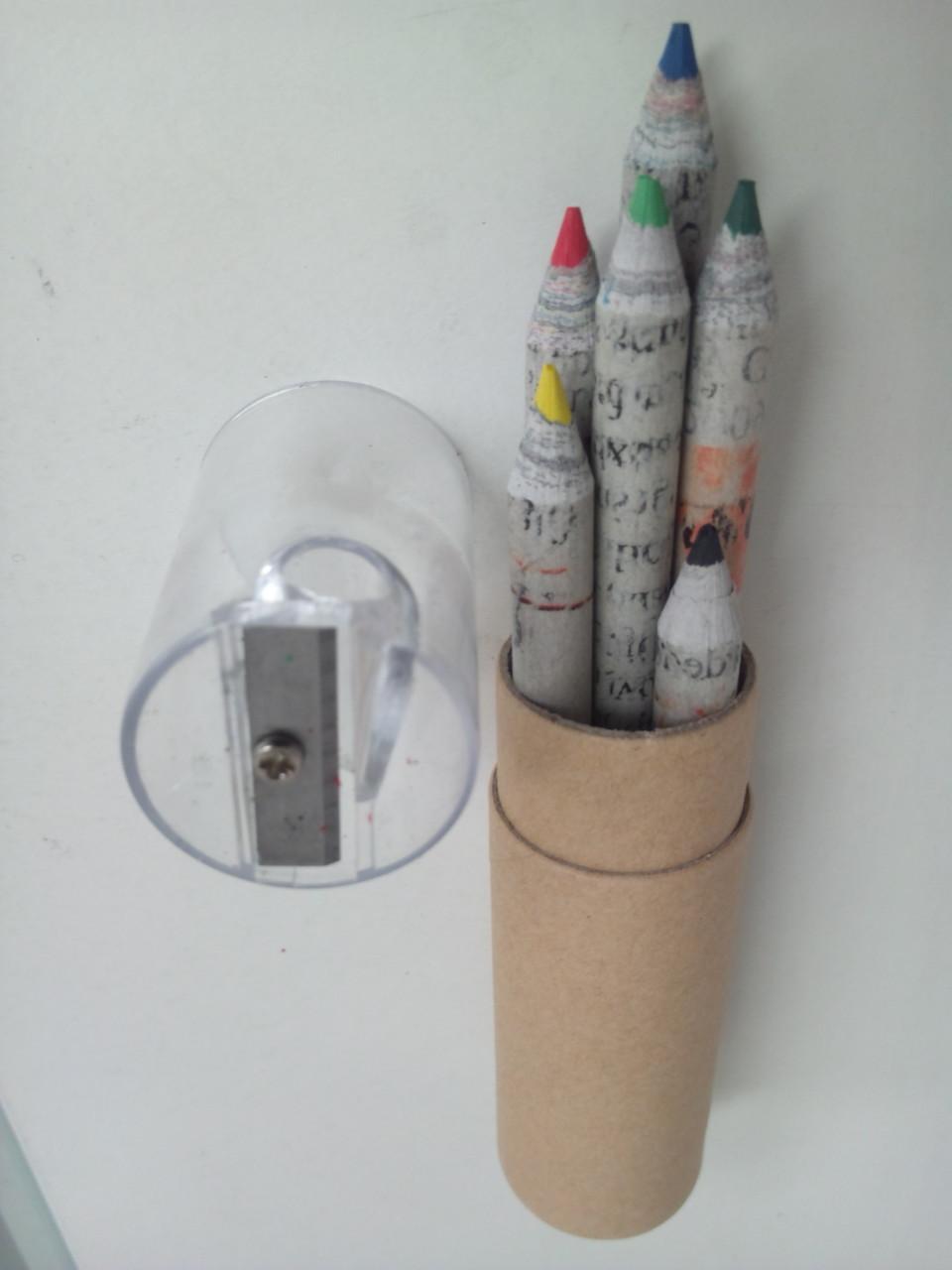古紙色えんぴつ       鉛筆削りつき