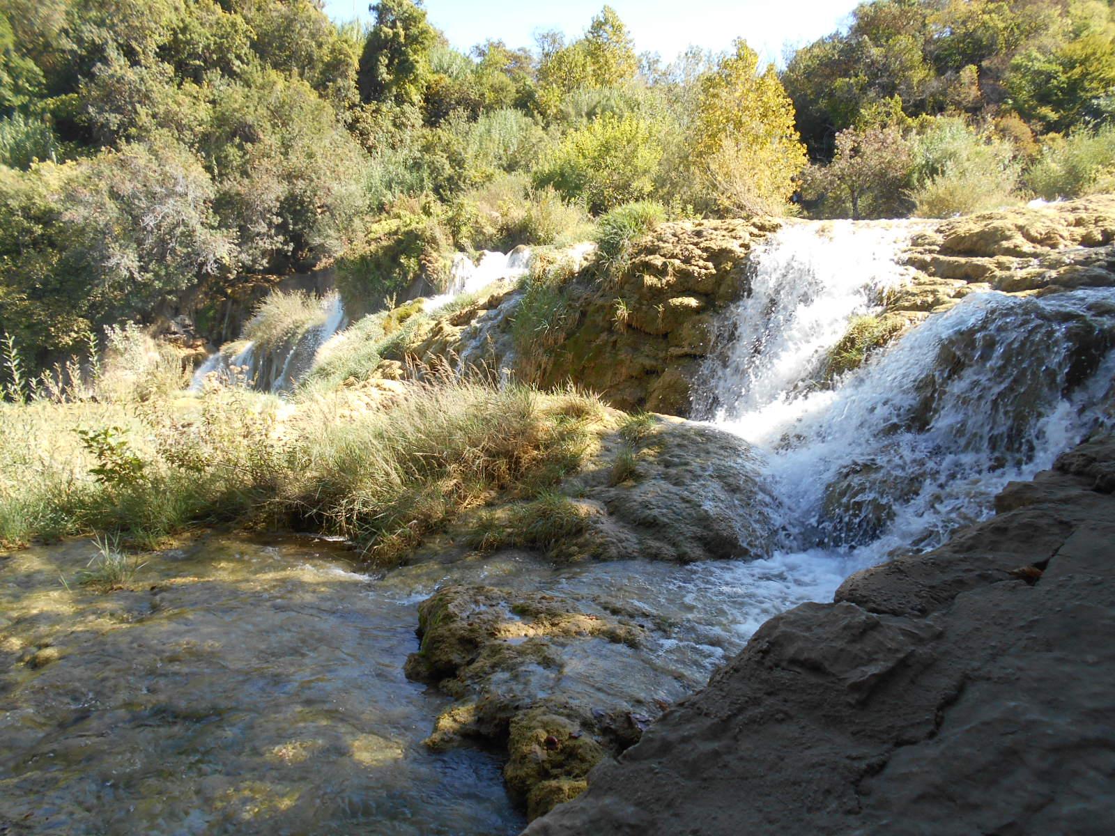 Bei den Krka-Wasserfällen