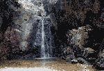雨降りの滝(意賀美神社)