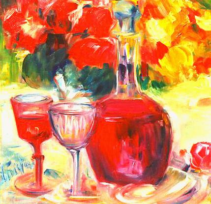 """""""Valentinstag""""  Ölbild  40B x 40H cm"""