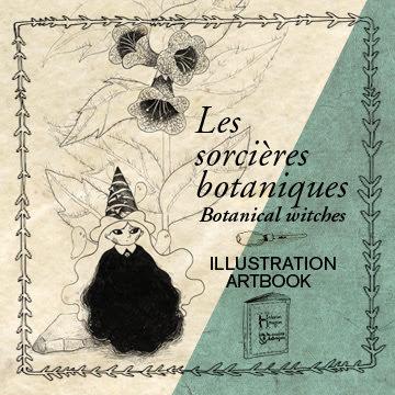 artbook artiste illustratrice illustrateur dessin végétal livre enfant sorcière botanique végétal