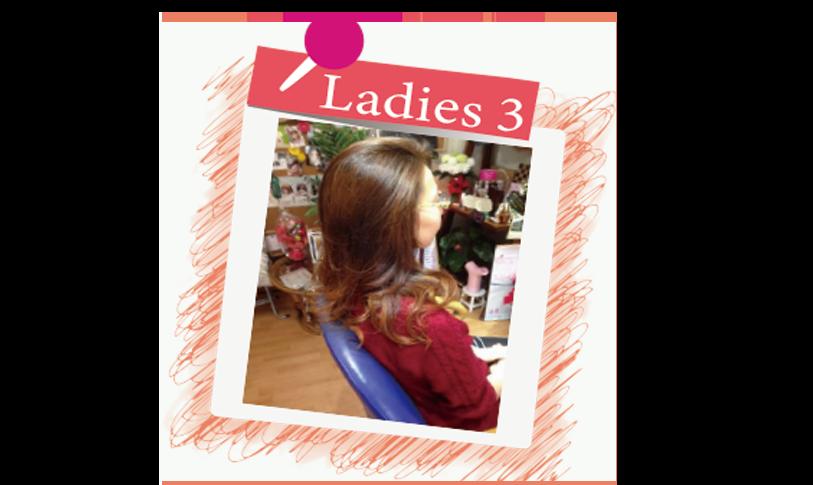 横須賀衣笠美容室B.B.  軽めのカラーにウェーブパーマ・毛先にメッシュとウィービング