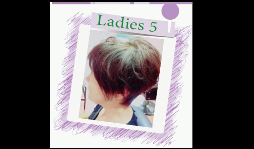 横須賀衣笠美容室B.B. ピンクのバイオレットをブラウンに入れたショートスタイル