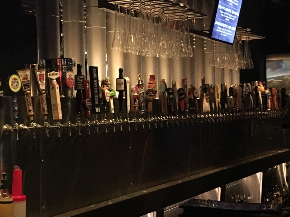 Soooo many beers on tap