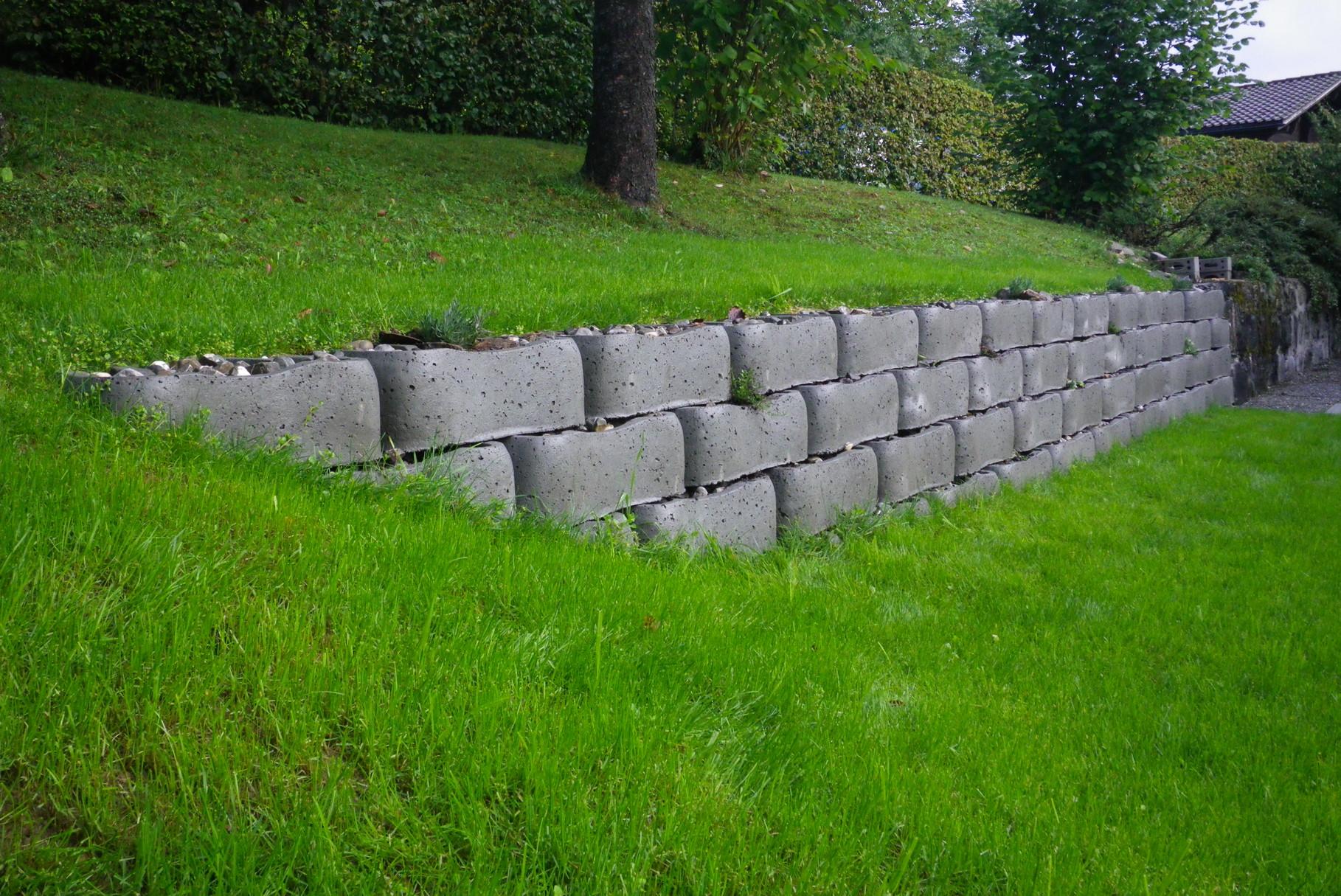 Löffelsteinmauer Lehrlingsarbeit 3 Lehrjahr