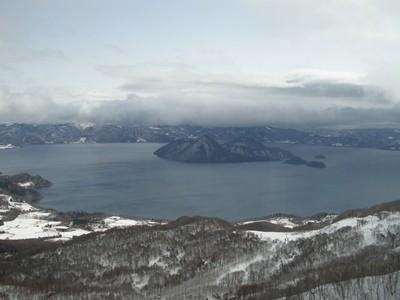冬の洞爺湖