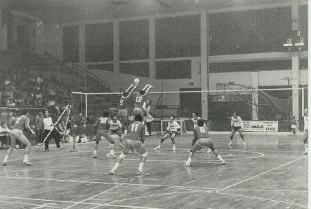 Pallavolo Novara serie B1 1986 - 2 Kuzmanov, 9 Mazzini, 10 Bedana, 8 Rizzoli, 4 Gogna, 12 Stornello