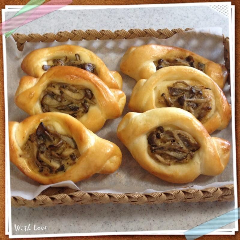 味噌マヨきのこパン