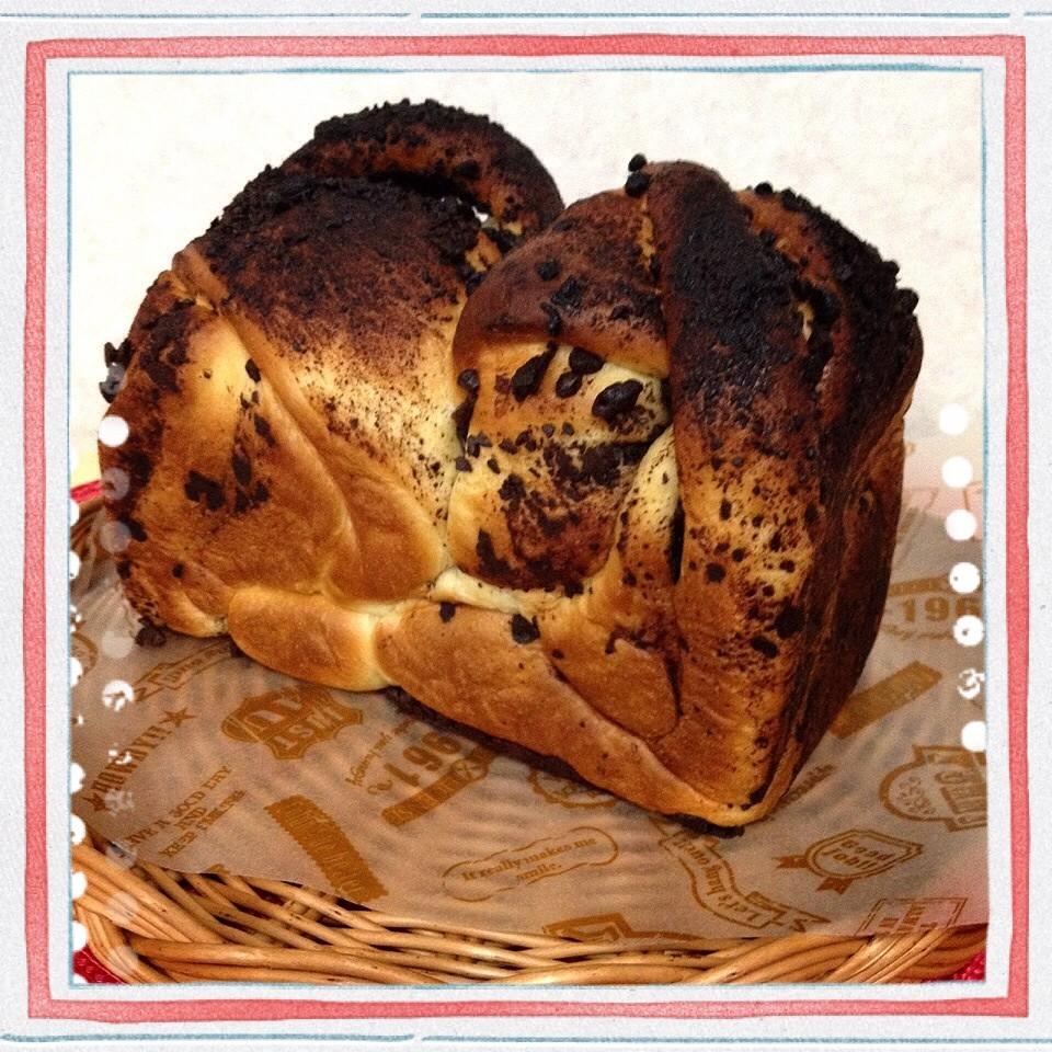 チョコのマーブルパン