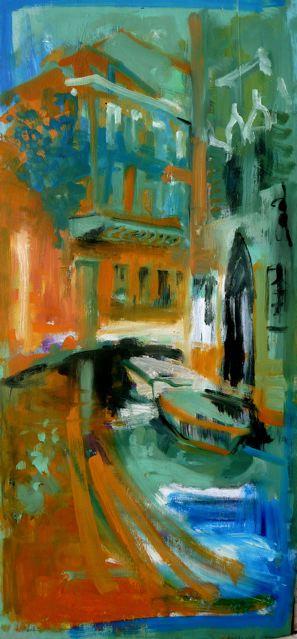 "Weekend washing (2020)  Olio su tavola cm 80 x 39  Oil on panel 31 1/2 x 15 1/3"""