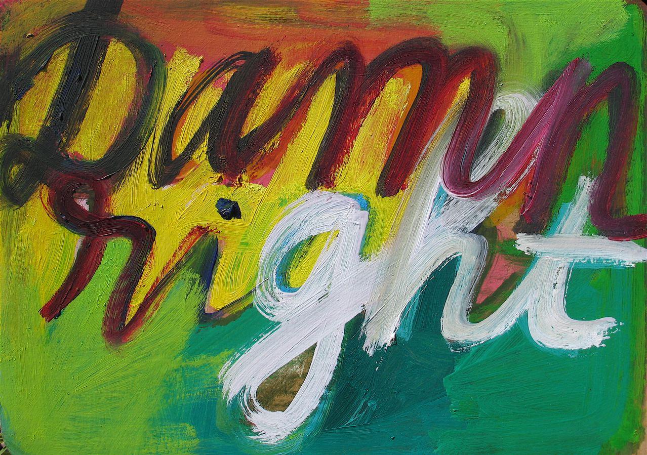"""Damn right (2011) olio su cartone cm 22,5 x 30 oil on cardboard 8 7/8 x 11 7/8"""""""