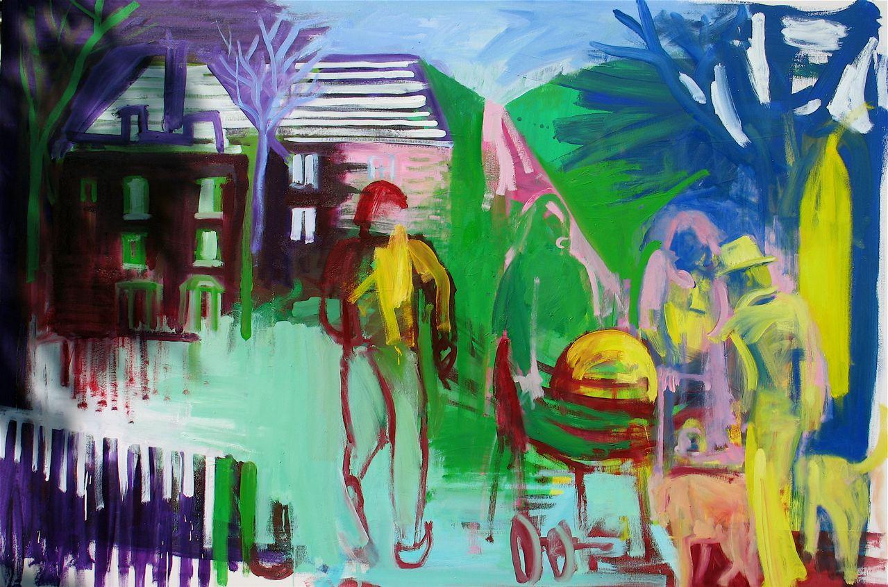 "Hampstead Heathen (2012)  olio su tela cm 100 x 150  oil on canvas 39 3/8 x 59"""