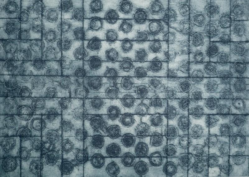 Nim, Cápsulas 2, colografia, 60 x 42 cm