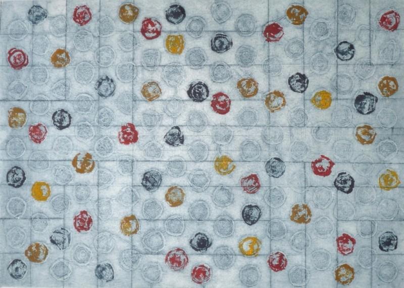 Nim, Cápsulas 1, colografia, 60 x 42 cm