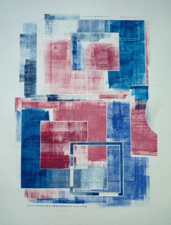 Nim, Monotipia, técnica mista 42 x 59 cm