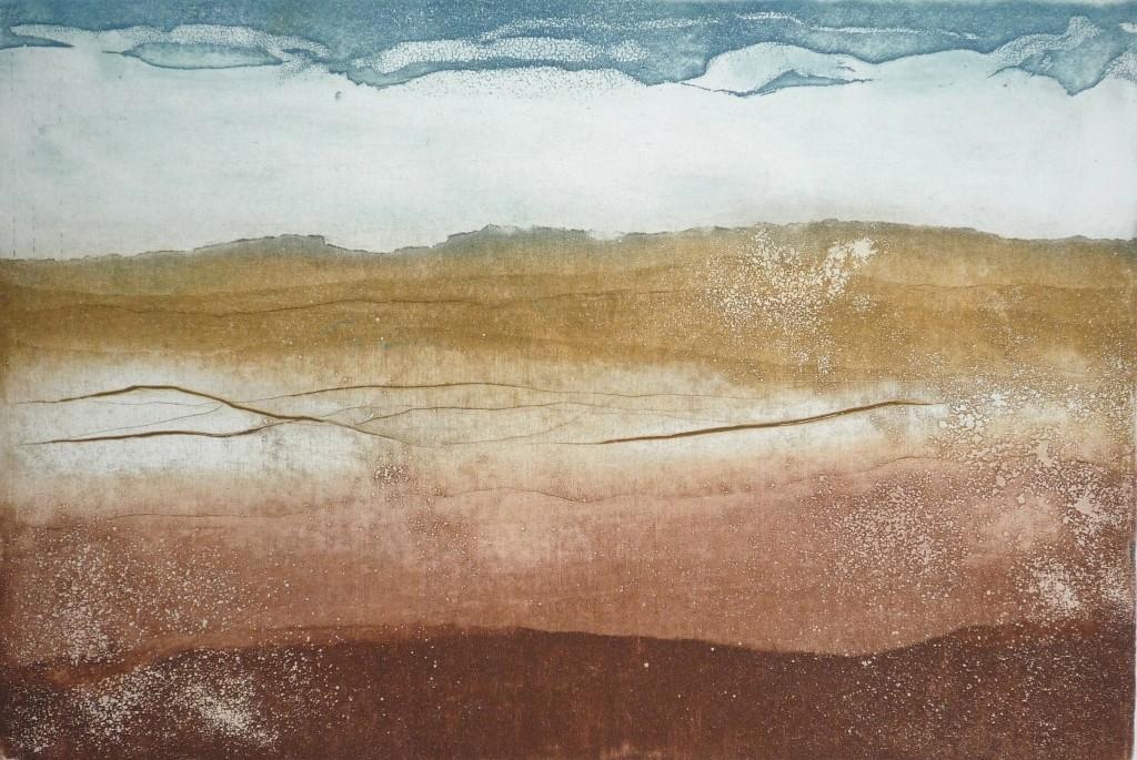 Nim, Montanha 1, Água forte e água tinta, 20 x 25 cm
