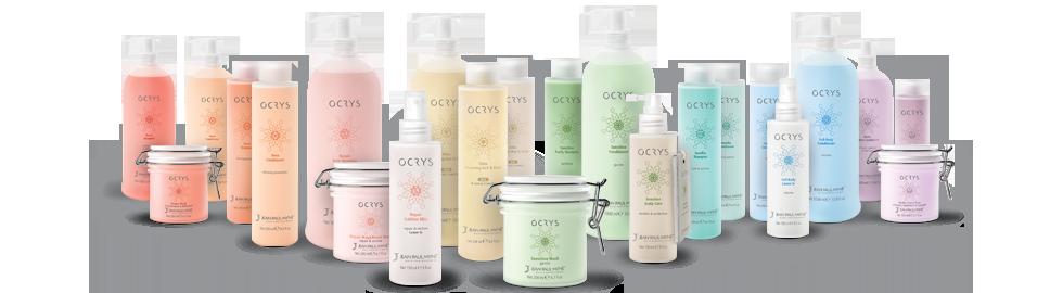 Ocrys verzorgingslijn: Shampoo, Maskers, Conditioner