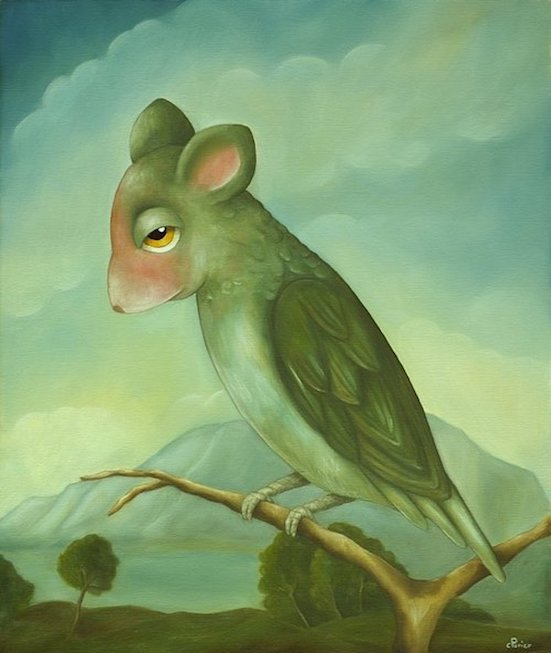 "Souris Vole, 2009, oil on canvas, 21,6 x 18,1 inches     <span style=""color: #ff0000;""> <span style=""color: #ff0000;"">Sold</span>"