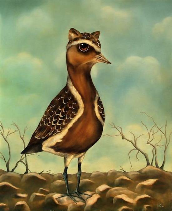 "L'oiseau Roi, 2010, oil on panel, 24 x 19,6 inches    <span style=""color: #ff0000;""> <span style=""color: #ff0000;"">Sold</span>"