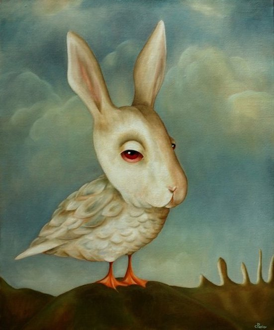 "Lapin d'un Jour, 2009, oil on canvas, 24 x 19,6 inches    <span style=""color: #ff0000;""> <span style=""color: #ff0000;"">Sold</span>"
