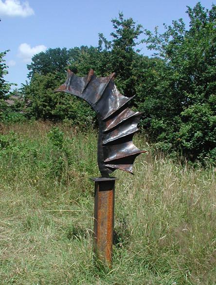 Metallobjetkt - Skulptur - Drachenfügel - Entwurf und Gestaltung Marc Wehmer