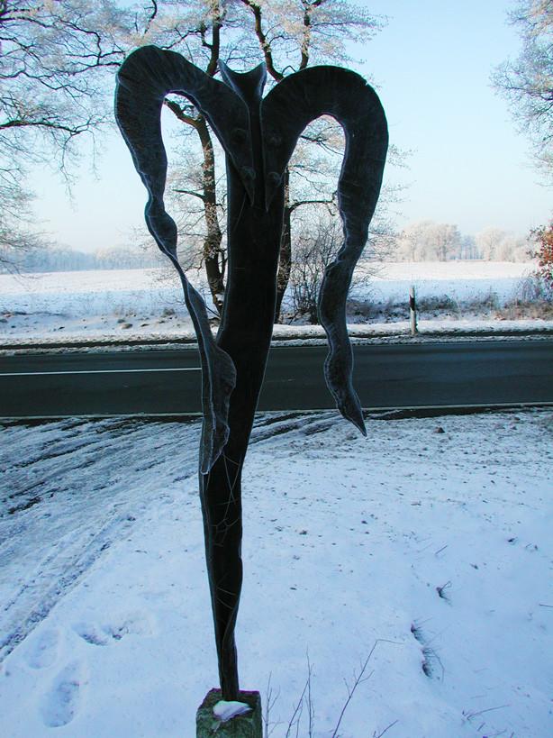 Metallobjekt - Skulptur - Eiskalter Engel - Entwurf und Gestaltung Marc Wehmer