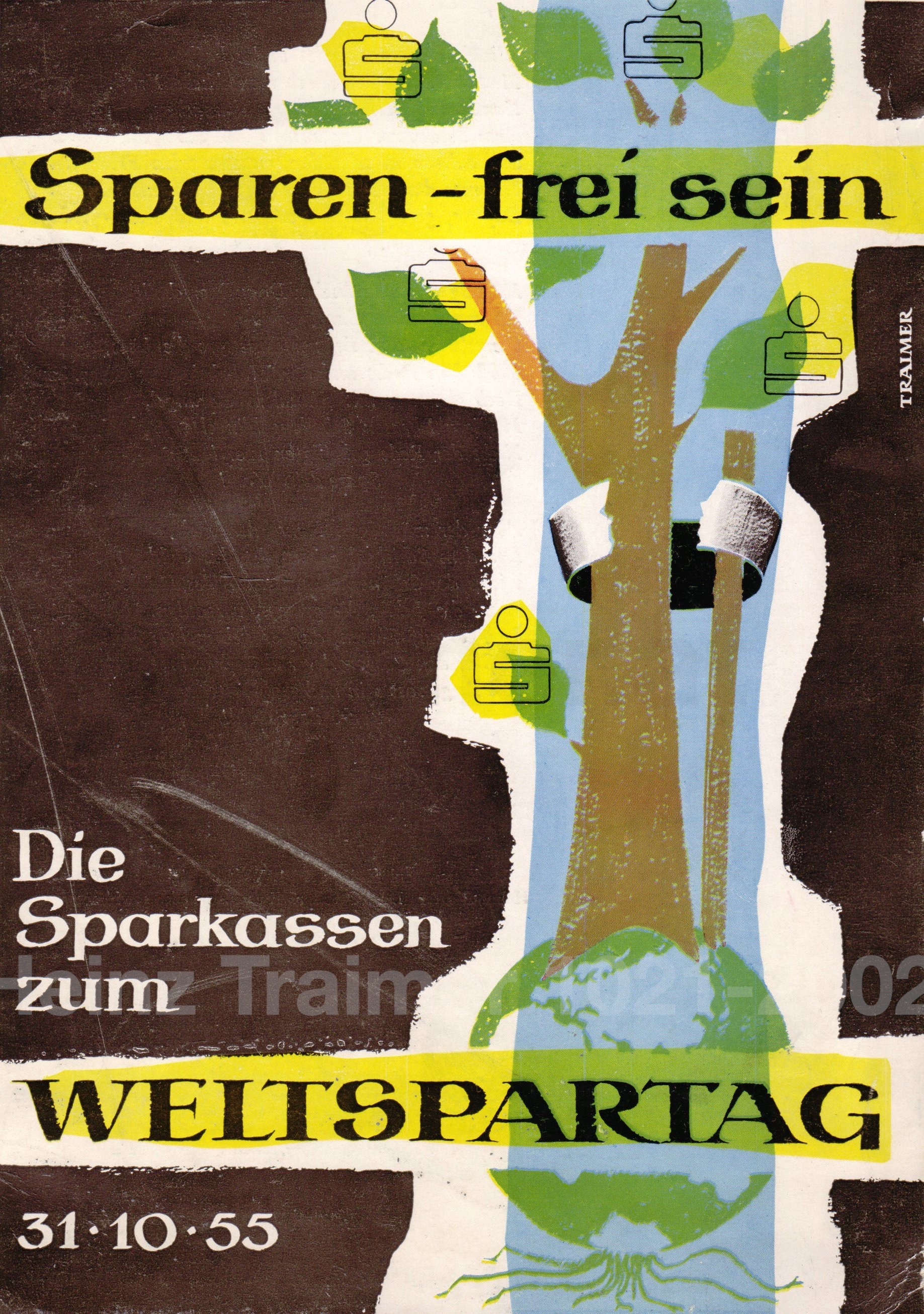 Sparen - frei sein. Plakat 1955.