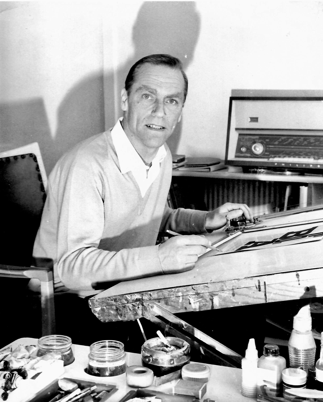 Heinz Traimer - Der Grafiker in seinem Wiener Atelier