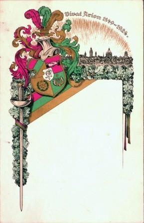Postkarte. Vivat arion 1849-1924.