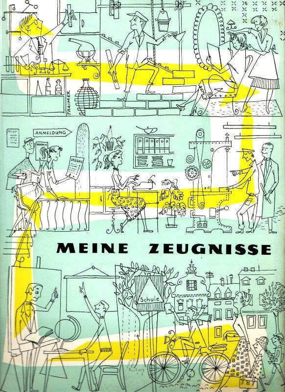 Zeugnismappe der Zentralsparkasse 1958