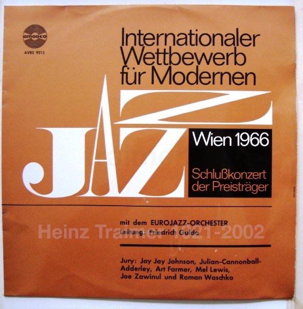 Friedrich Gulda Wettbewerb. Jazz Internationaler Wettbewerb für modernene Jazz 1966.