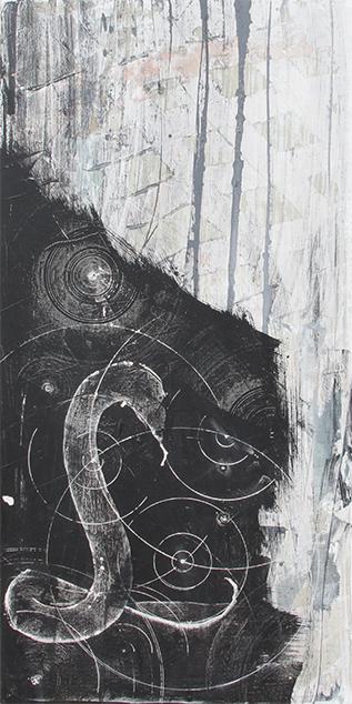 ,,Schlange'' 2015 / 130x64 cm Acryl