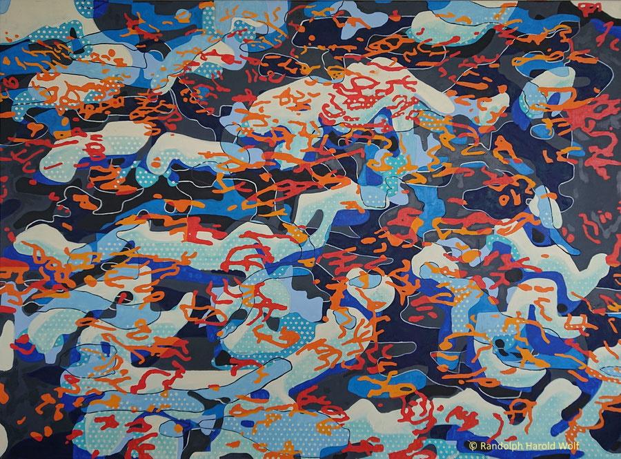 """Primordial Solution"". Oil on canvas 135 cm x 100 cm. 2020"