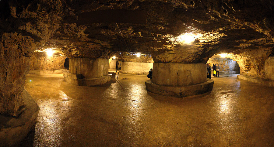 The underground tunnels of Pula...