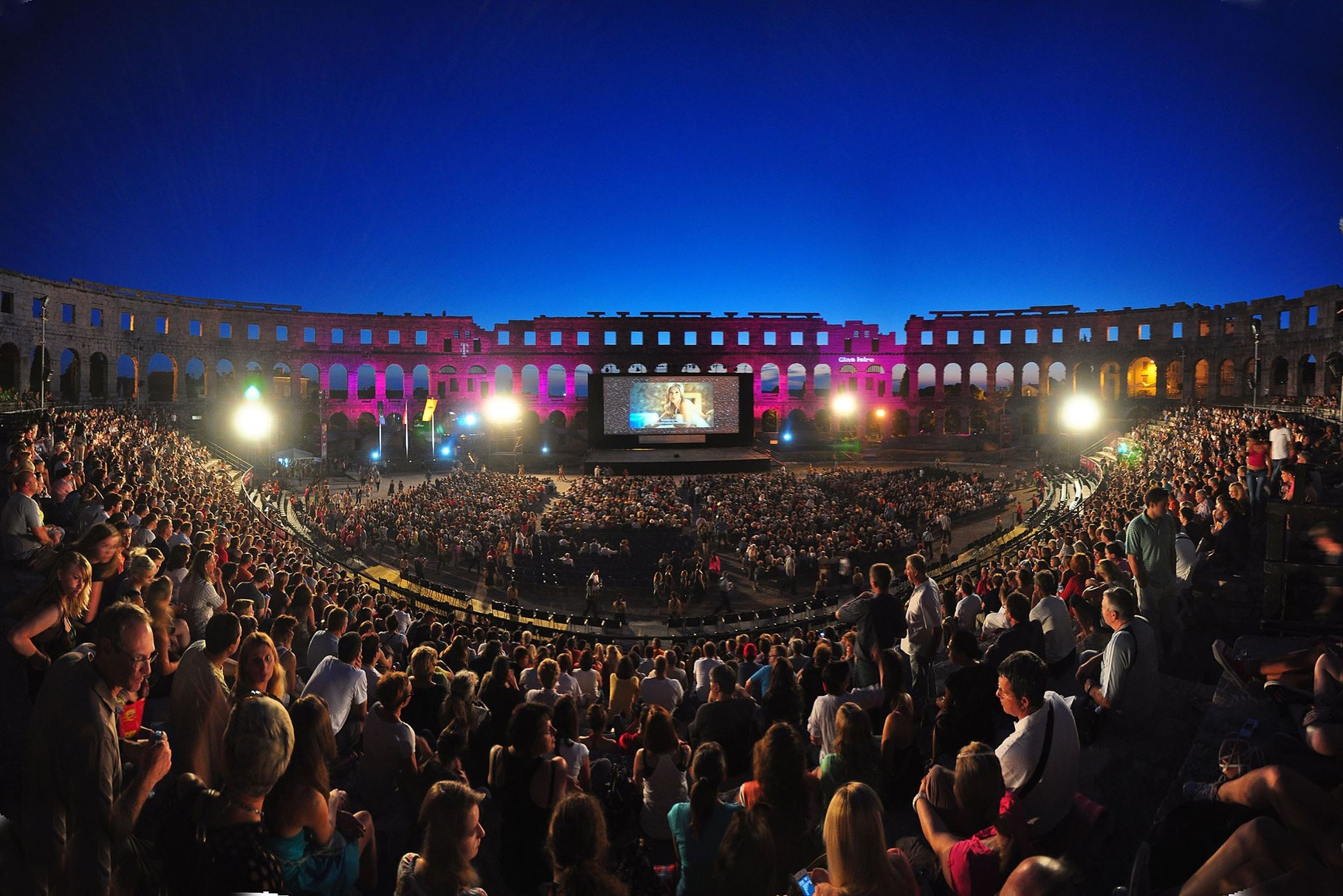 The Arena during the Pula film festival from 12 to 26 July 2014