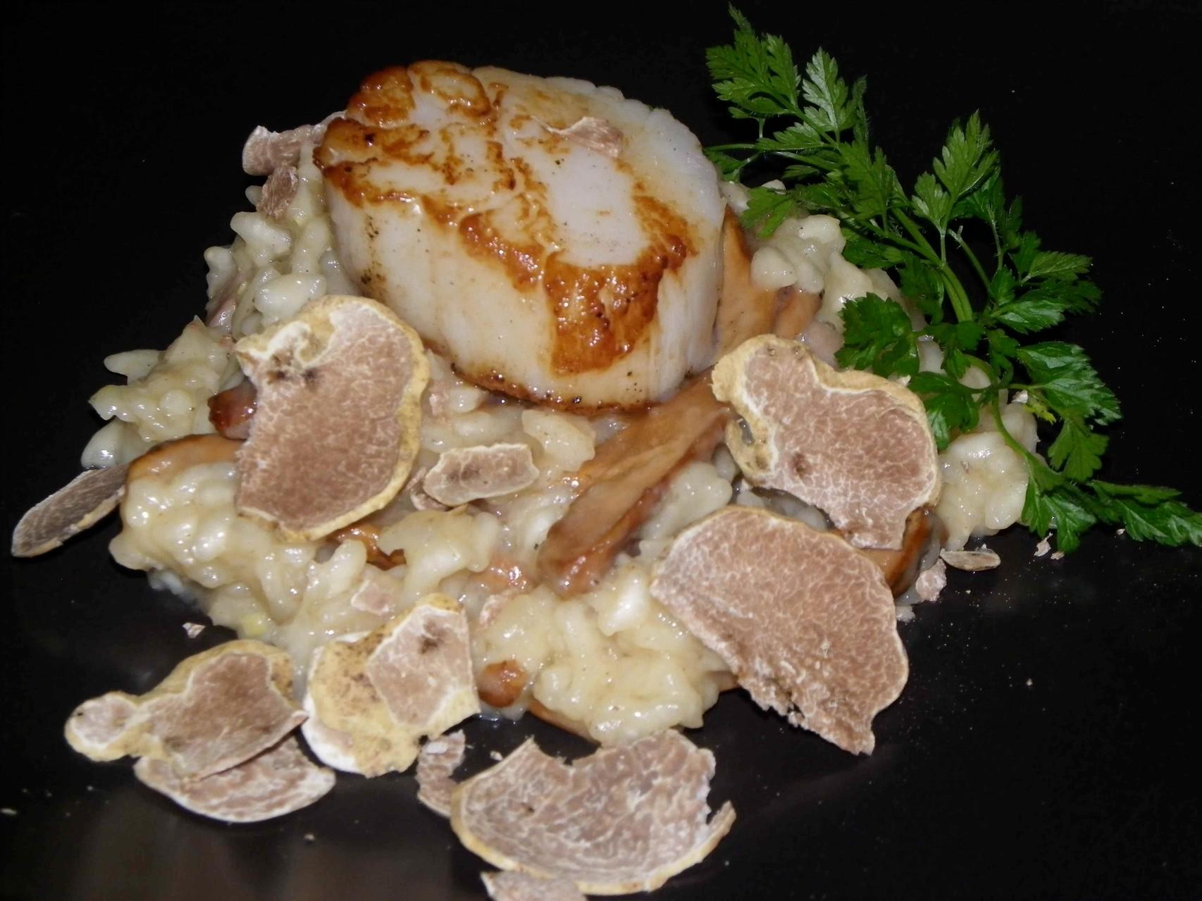 goutez le risotto aux truffes blanches!