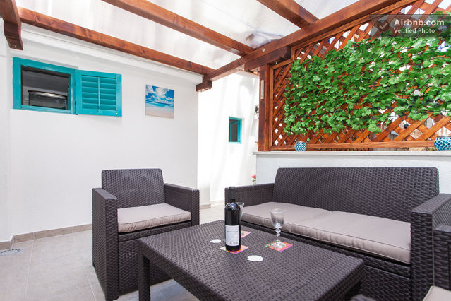 Enjoy taking a glass at your private terrasse...