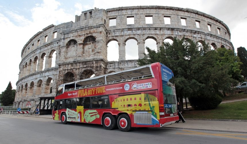 Pula city Tour discover the whole City by bus within 24 hours...!