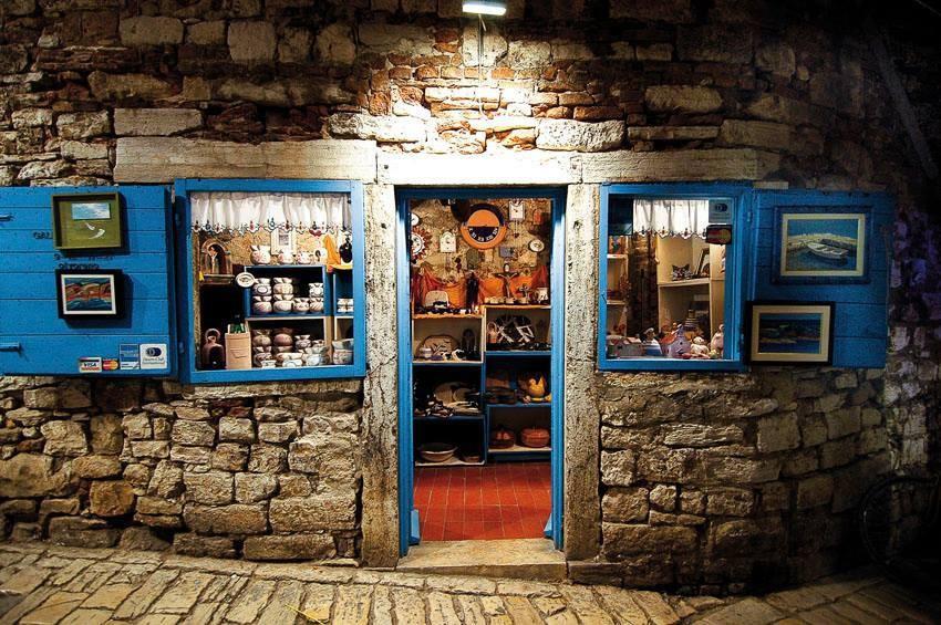 a wine shop in Rovinj...