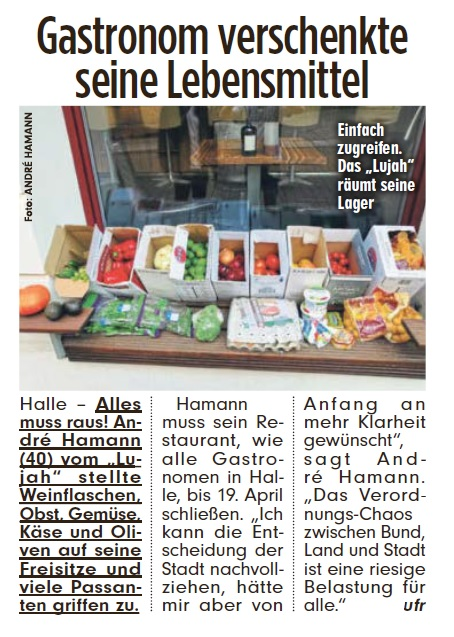 BILD Sachsen-Anhalt Halle (Saale) Ausgabe 20.03.2020 #coronakrise
