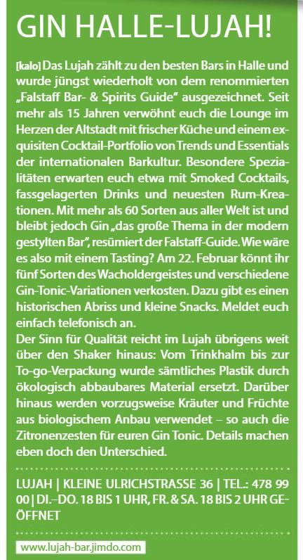 aha - Alles Halle -Das Stadtmagazin - Februar/März 2019
