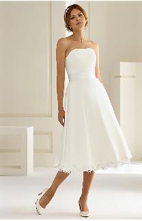 Brautkleid kurz Chiffon Bianco Evento Brautmoden Per Sempre
